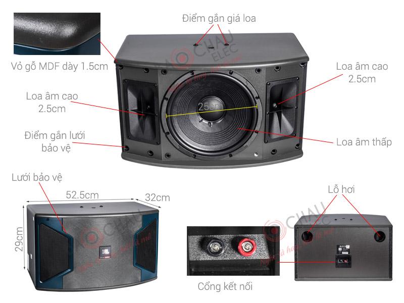 Thông số kỹ thuật Loa JBL Ki 310 ( Ba Sao)