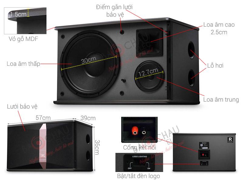 Thông số kỹ thuật Loa JBL Ki 512