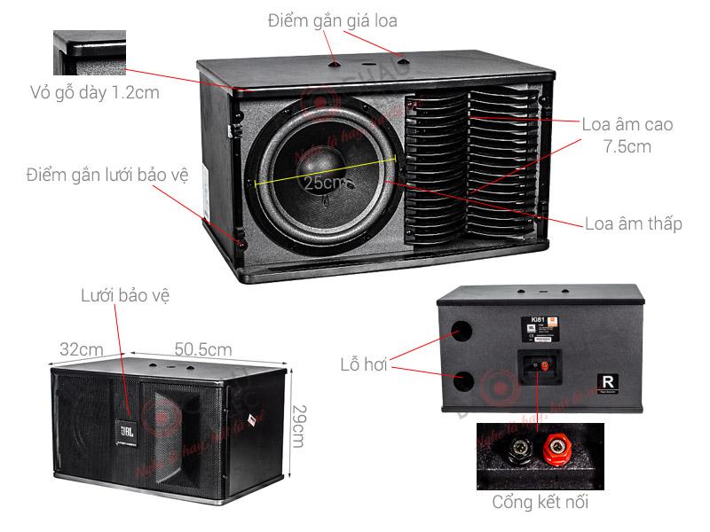 Thông số kỹ thuật Loa JBL KI 81