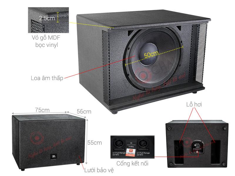 Thông số kỹ thuật Loa sub JBL KP18S