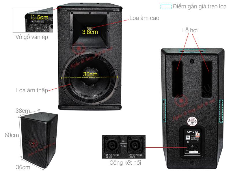 Loa karaoke JBL KP4012 Ba sao full bass 30cm