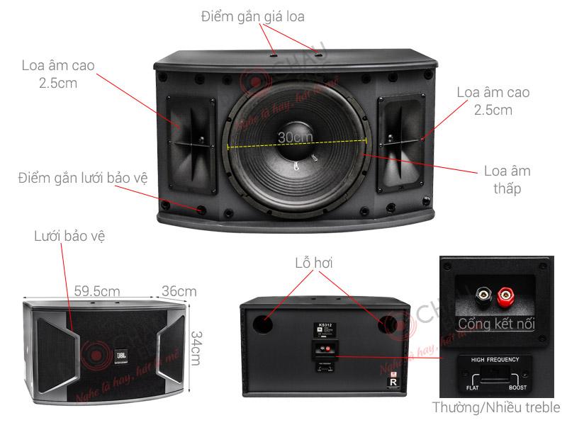 Thông số kỹ thuật Loa JBL KS312