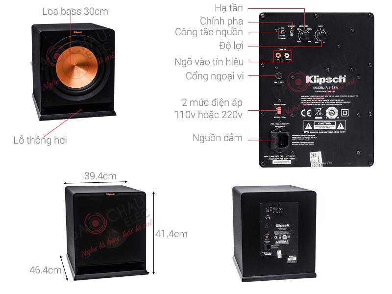 Sub điện Klipsch R112SW (bass 30)