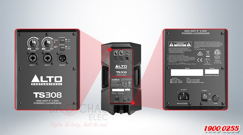 Loa Alto TS308 dễ dàng sử dụng