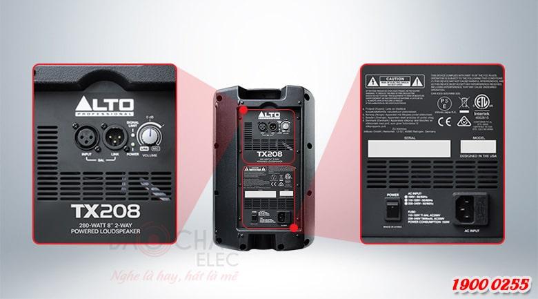 Loa Alto TX208 kết nối dễ dàng