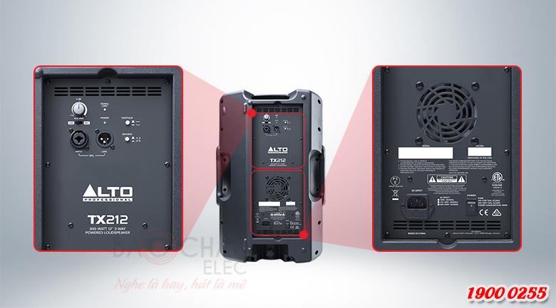 Mặt sau Loa Alto TX212 đầy đủ thông số và jack kết nối