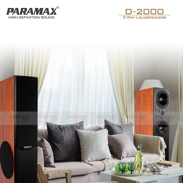 Loa Paramax D2000 đáp ứng nhu cầu nghe nhạc tại gia