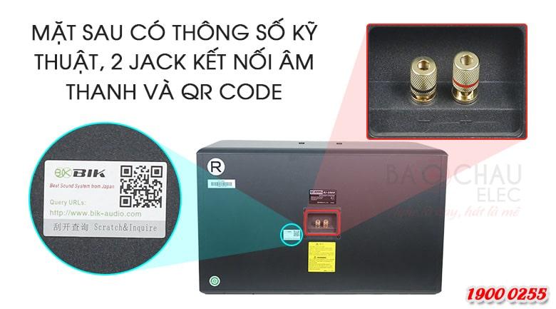 Loa karaoke BIK BJ S968 trang bị 2 jack kết nối