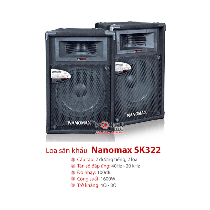 Loa sân khấu Nanomax SK322