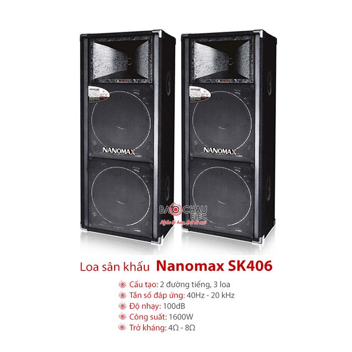 Loa sân khấu Nanomax SK406
