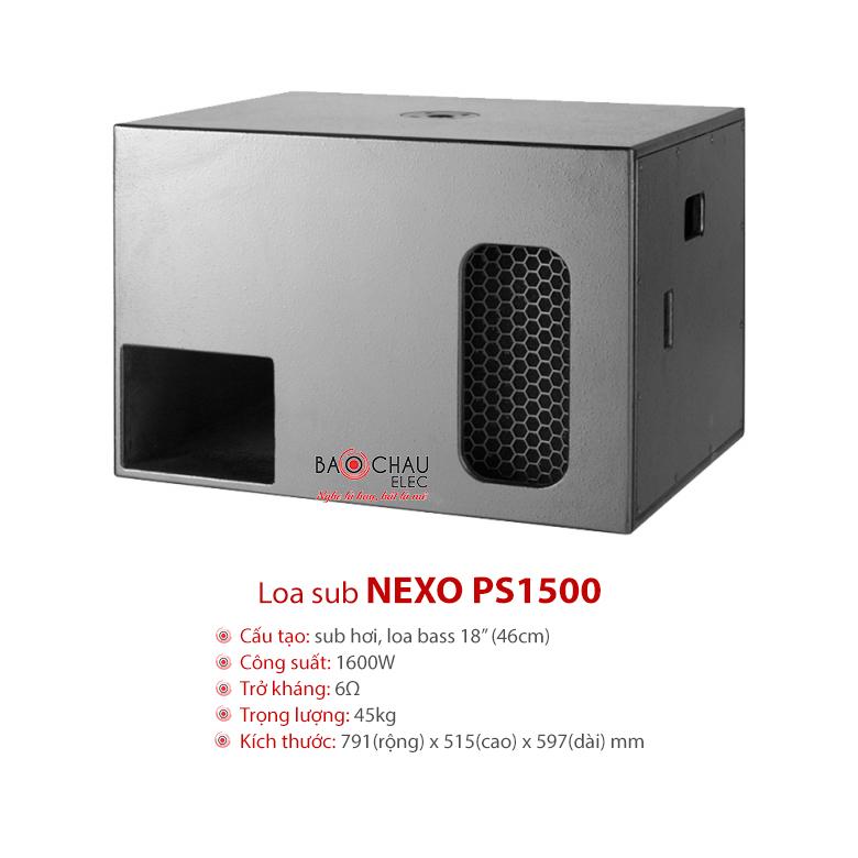Loa hội trường Nexo PS1500
