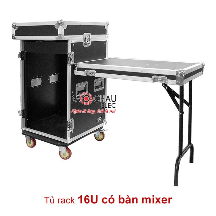 Tủ rack 16U có mixer