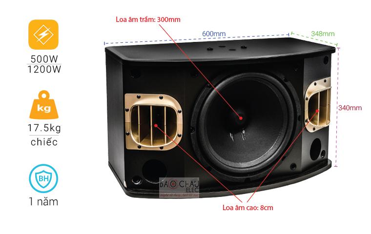 Loa BMB CSV 900 (C) like new thông số cơ bản