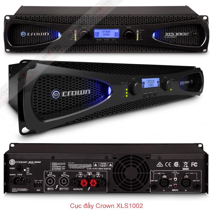 Cục đẩy công suất Crown XLS 1002 chi tiết các mặt