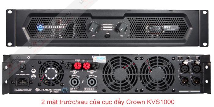 Cục đẩy công suất Crown KVS1000 - 2 mặt trước/sau