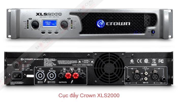 Cục đẩy Crown XLS2000 - 2 mặt trươc/sau