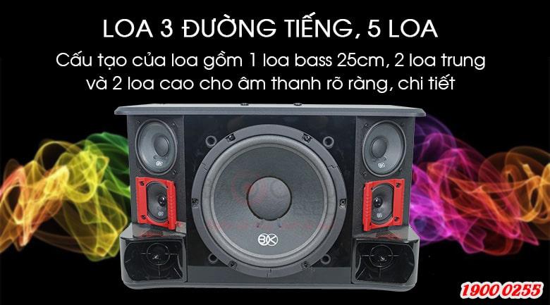 Loa BIK BJ S1010 thể hiện 3 đường tiếng tách biệt