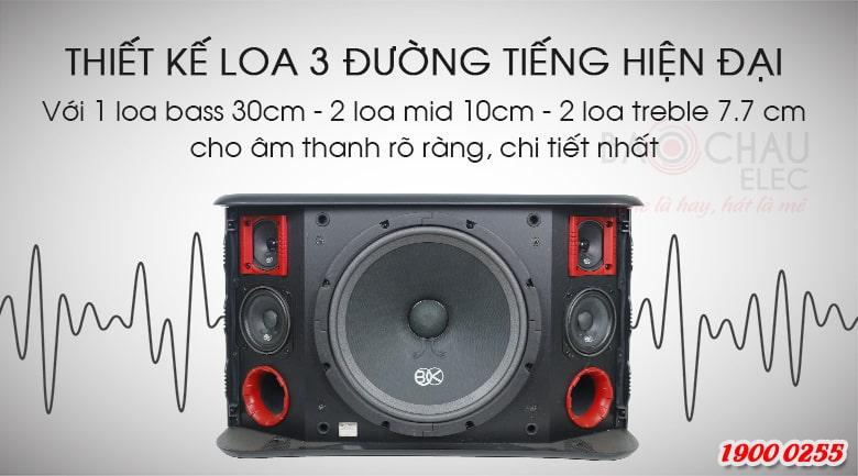 Loa karaoke BIK BJ S968 được trang bị củ bass 30cm