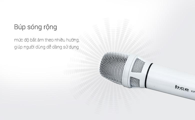 Micro không dây BCE Vip 6000 chính hãng, lọc âm chống hú tốt