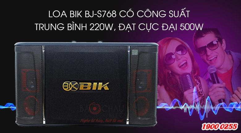 Loa BIK BJ S768 công suất mạnh mẽ