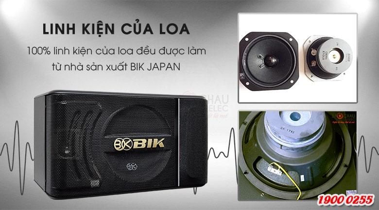 Loa BIK BJ S886 được cấu tạo từ hệ thống linh kiện cao cấp