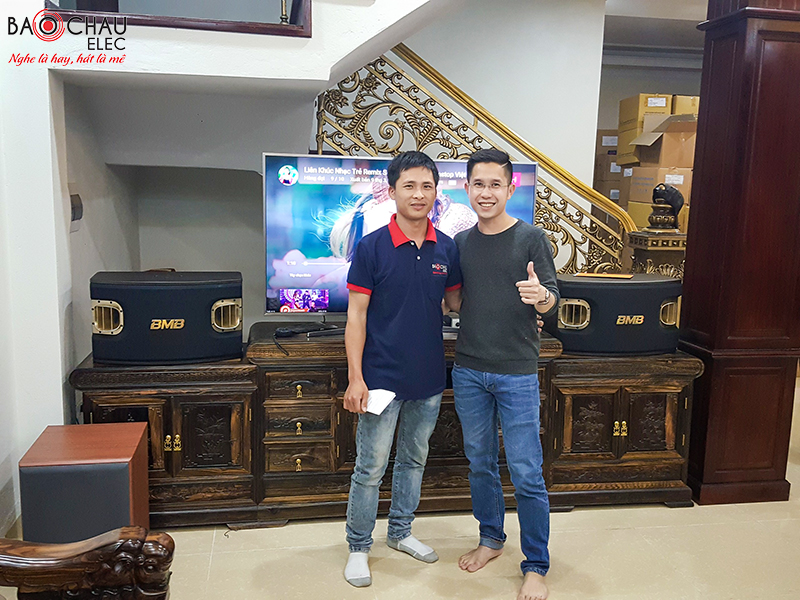 Lắp đặt dàn karaoke gia đình cao cấp cho Đông tại Hoài Đức, Hà Nội