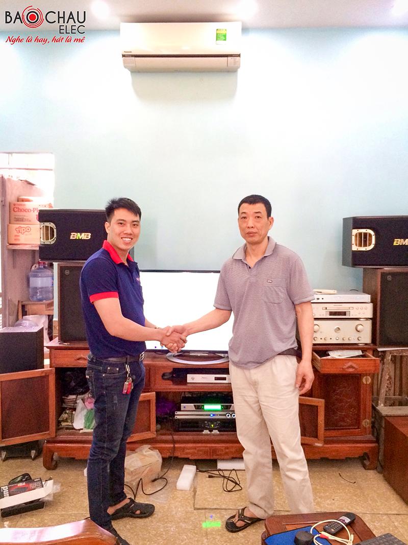 Lắp đặt dàn karaoke gia đình cao cấp cho chú Toàn tại Thanh Trì