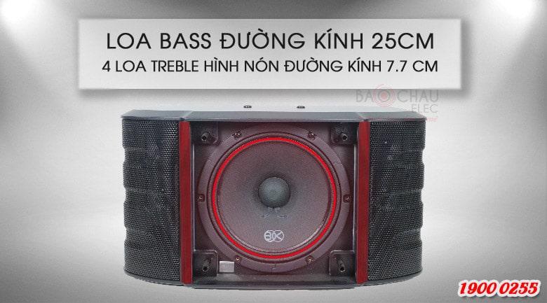 Loa BIK BS 998NV được trang bị củ bass 25cm