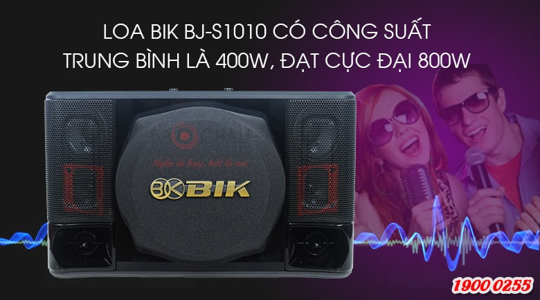 Loa BIK BJ S1010 cho công suất mạnh mẽ