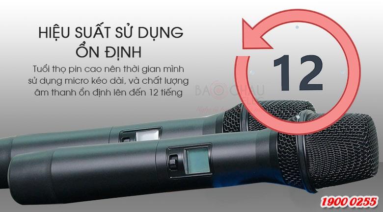 Micro không dây Relacart X-10 giá tốt, chống hú, lọc âm